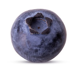 Ripe blueberry isolated on white background. Clipping Path