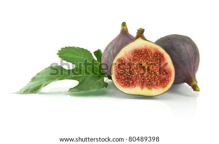 ripe fig isolated on a white background