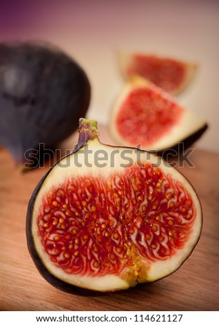 Ripe figs closeup