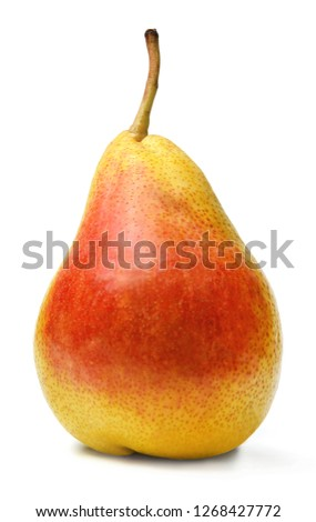 Ripe fresh pear on white isolated background #1268427772