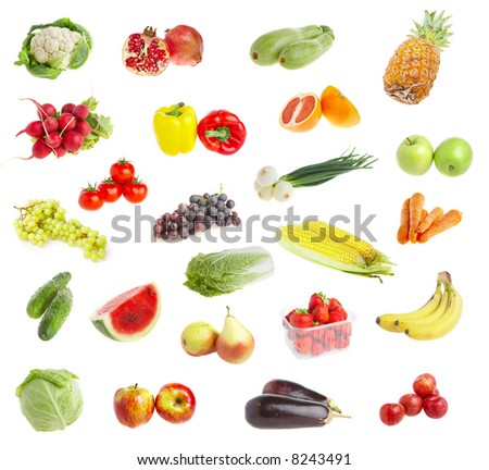Ripe freshs fruit andvegetables. Wholesome food.