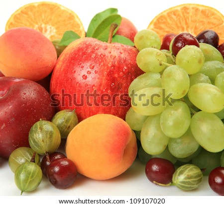Ripe fruit and berries