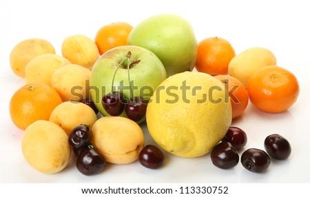 Ripe fruit and berries