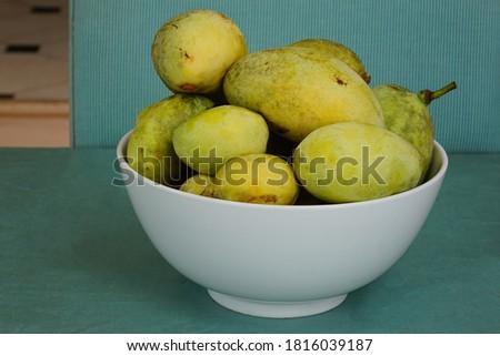Ripe fruit of the common pawpaw (asimina triloba) Stock photo ©