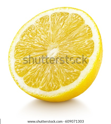 Shutterstock Ripe half of yellow lemon citrus fruit isolated on white background with clipping path