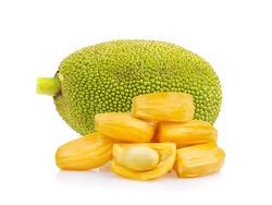 ripe jack fruits isolated on white background
