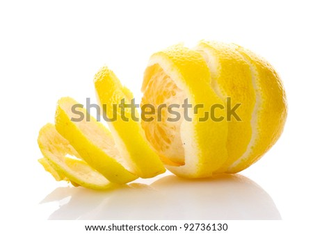 ripe lemon isolated on white