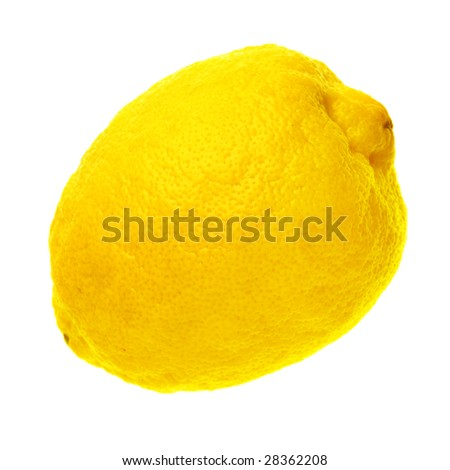 Ripe lemon isolated over a white background