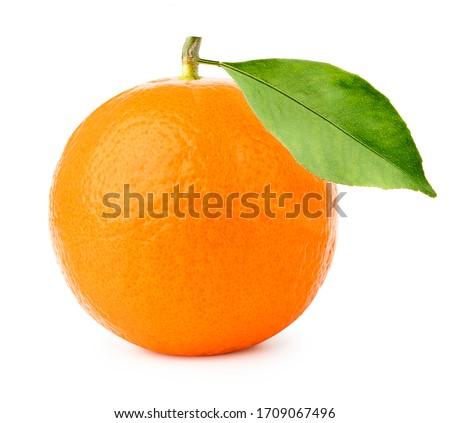 ripe orange fruit isolate on white background