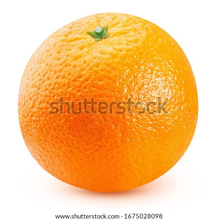 ripe orange fruits isolated on white background Foto d'archivio ©