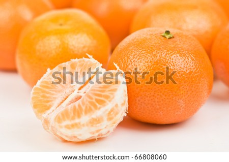 ripe orange mandarins close up