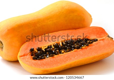 Ripe papaya, Pawpaw or Tree melon (Carica papaya L) which Rich in Betacarotene, Vitamin C, Fiber and Papain Enzyme.