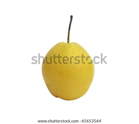 Ripe pear isolated on a white background