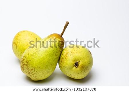 Ripe pears of the rocha type Foto stock ©