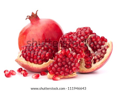 Shutterstock Ripe pomegranate fruit isolated on white background cutout