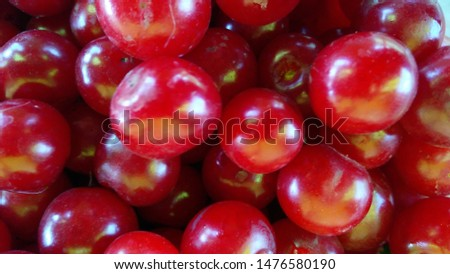 ripe red ripe garden cherry