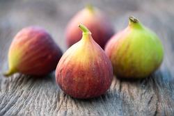 Ripe sweet figs. Healthy mediterranean fig fruit.