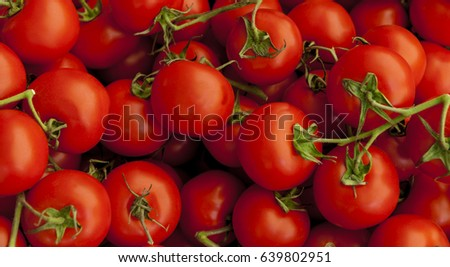 Ripe tasty red tomatoes.