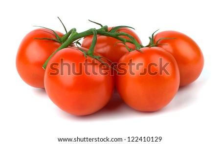 Ripe Tomato isolated on white background