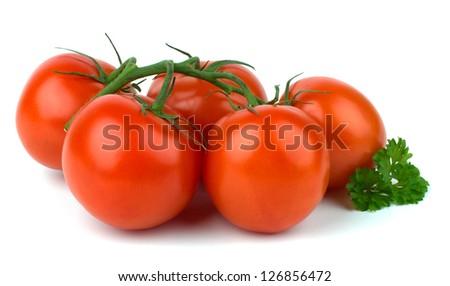 Ripe Tomato isolated on white background - stock photo