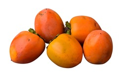 ripe well persimmons isolated on white background
