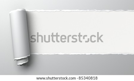 Ripped paper, 3d image