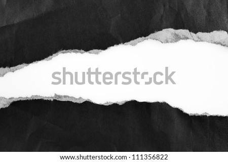 Ripped paper, space for advertising copy