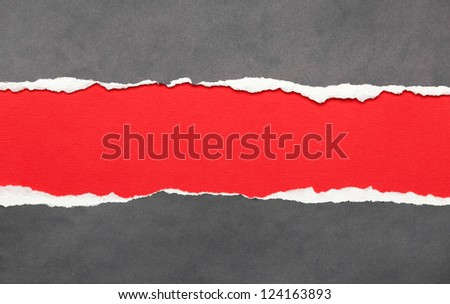 Ripped paper with red space for your message