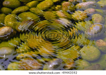 ripple clear water in pond