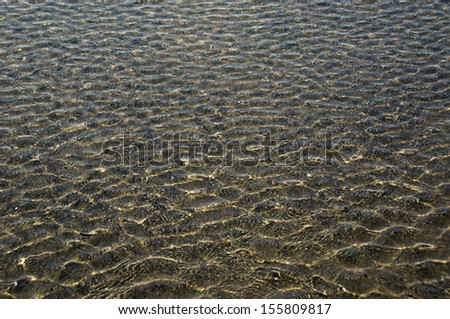 Rippled pattern on a water surface, Goa, India
