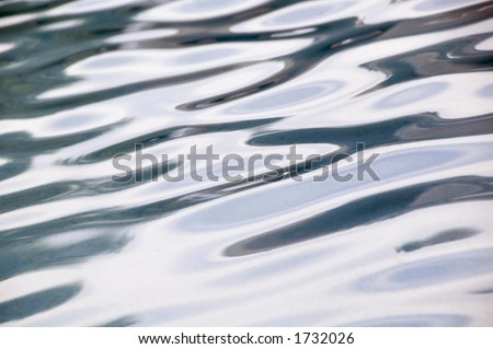 Rippled reflections in an outdoor pool