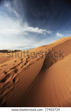 Rippled Sand dune in the Badain Jaran Desert, Inner Mongolia, China