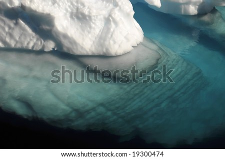 Rippled underwater ice