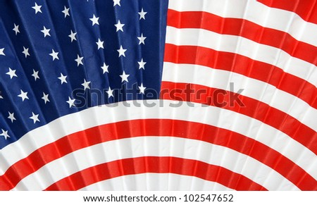 Rippled USA American Flag background