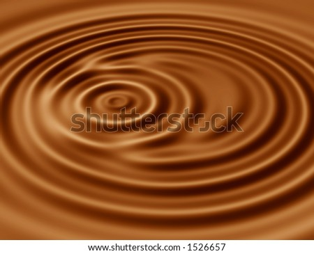 Ripples in hot chocolate