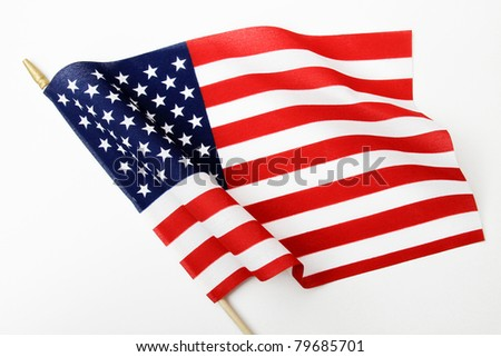 Ripples in US Flag on Pole