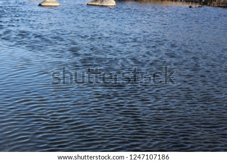 Ripples on the surface of a river #1247107186