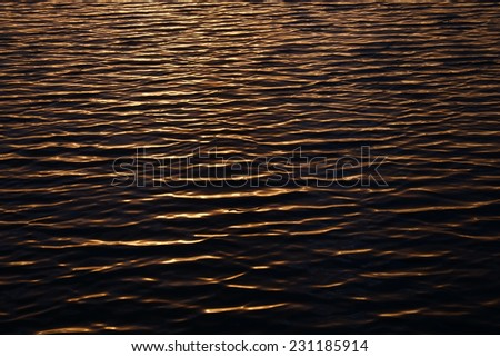 Ripples on water surface during sunset. Nature and outdoor backgrounds