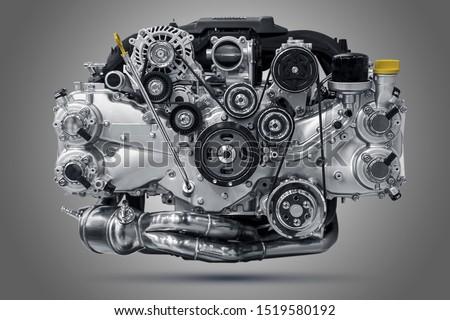 Rise car engine unit. Fly engine. ストックフォト ©