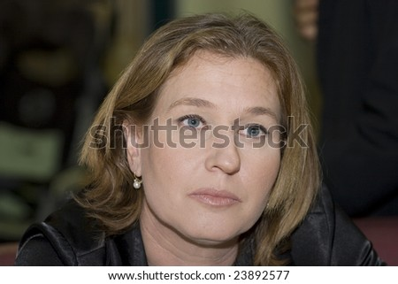 RISHON, LE-ZIYON, ISRAEL, DECEMBER, 2008: Israeli Foreign Minister and head of governing party Tzipi Livni, within the bounds of electioneering to the Knesset, meets with common people in the Rishon le-Ziyon city mall.