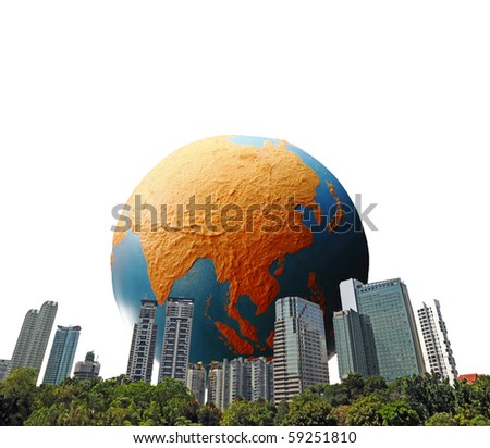 Rising Asian economy. - stock photo
