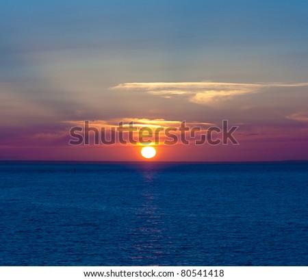 Rising Ocean Night #80541418
