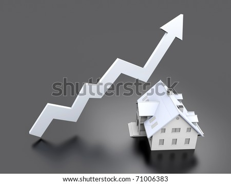 Rising real estate - stock photo