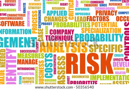 stock photo : Risk Analysis Concept Word Cloud as Background