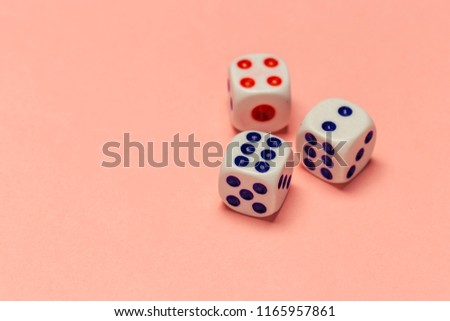 risk concept - playing dice #1165957861