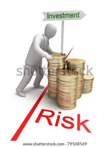 Risk in Investment, 3D conept