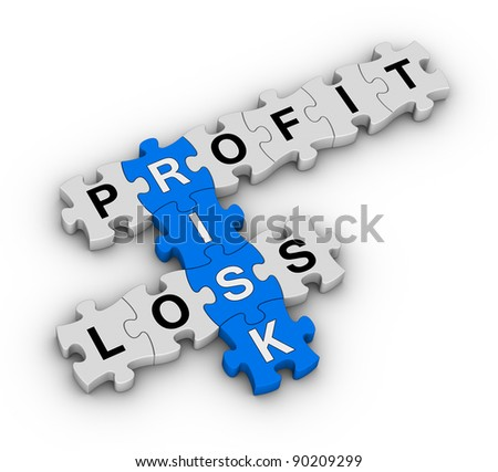 risk management jigsaw puzzle - stock photo