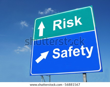 RISK--SAFETY road sign