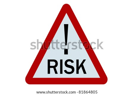 Risk sign illustration on white background