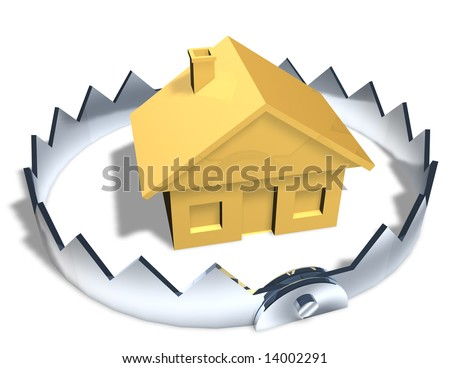 RISKY HOUSE TRAP - stock photo